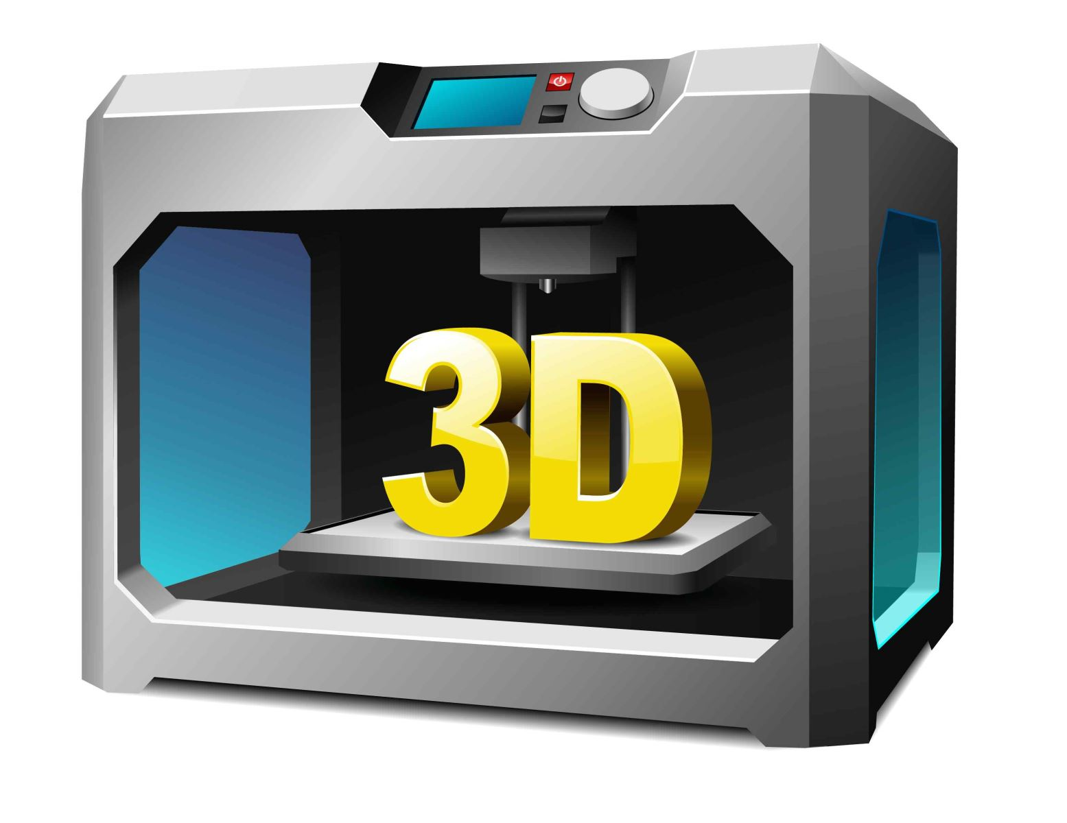 Graphic of 3D printer